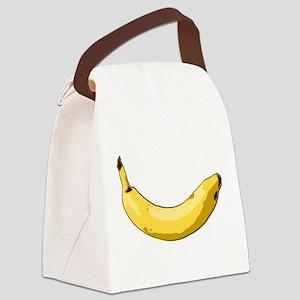 banana-side Canvas Lunch Bag