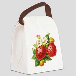 vic-strawberry Canvas Lunch Bag