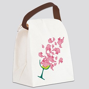pink-elephants Canvas Lunch Bag
