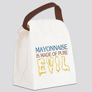 MAYONNAISE-EVIL Canvas Lunch Bag