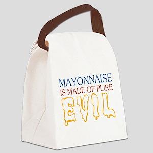 MAYONNAISE-EVIL Canvas Lunch Bag