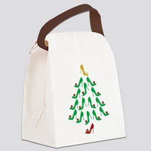 High Heel Shoe Holiday Tree Canvas Lunch Bag