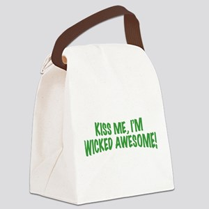 kiss-me-im-wicked-awesome Canvas Lunch Bag