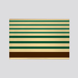 Striped design brown green begie Magnets