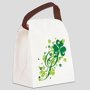 SHAMROCK-SWIRL Canvas Lunch Bag