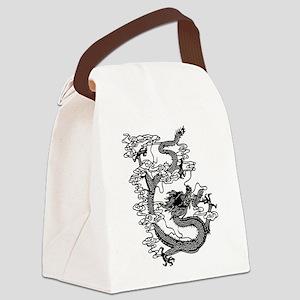 dragon_black Canvas Lunch Bag