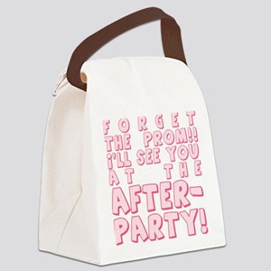 PROM-AFTERPARTY_pink Canvas Lunch Bag