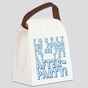PROM-AFTERPARTY_blue Canvas Lunch Bag