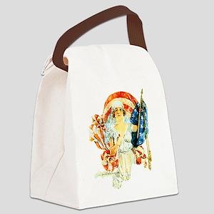flag-nurse-wwi_tr Canvas Lunch Bag