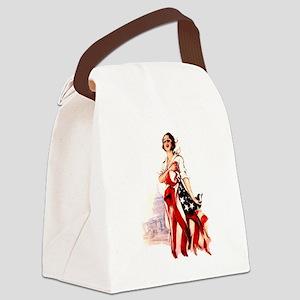 flag-nurse2 Canvas Lunch Bag
