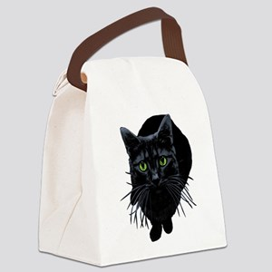 black-kitty Canvas Lunch Bag