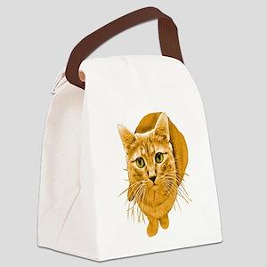 orange-kitty Canvas Lunch Bag