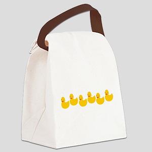 ducky-row-new Canvas Lunch Bag
