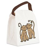 monkey-couple.png Canvas Lunch Bag