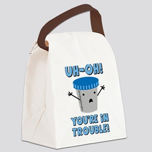 youre-in-trouble_tr Canvas Lunch Bag