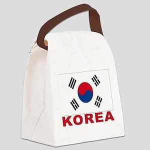 south-korea_b Canvas Lunch Bag