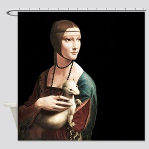 Da Vinci Lady with An Ermine Shower Curtain