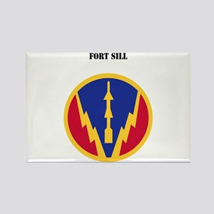 SSI - Fort Sill with Text Rectangle Magnet