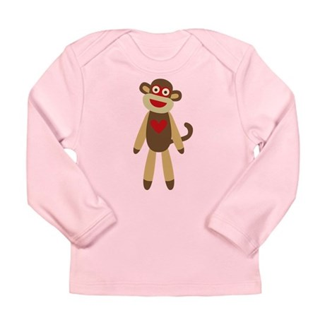Cute Sock Monkey Long Sleeve Infant T-Shirt