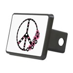 Peace Sign with Hearts and Flowers Rectangular Hit