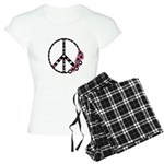 Peace Sign with Hearts and Flowers Women's Light P