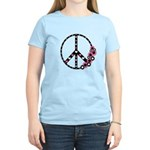 Peace Sign with Hearts and Flowers Women's Light T