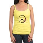Peace Sign with Hearts and Flowers Jr. Spaghetti T