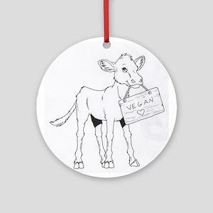 Cows Love Vegans Ornament (Round)