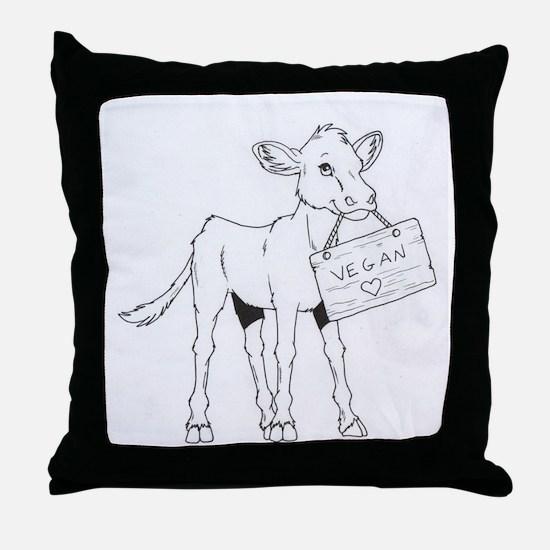 Cows Love Vegans Throw Pillow