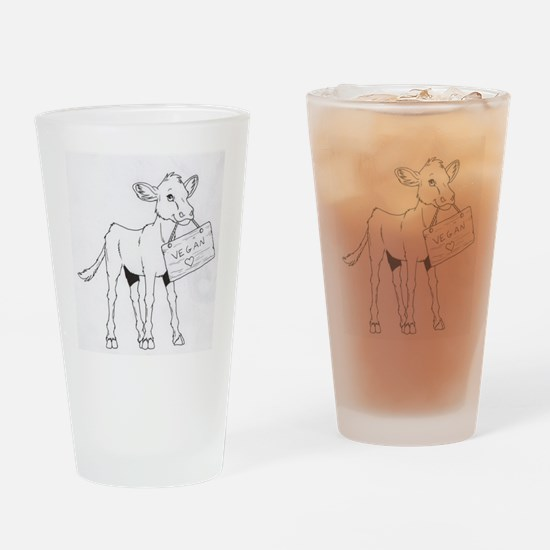 Cows Love Vegans Drinking Glass