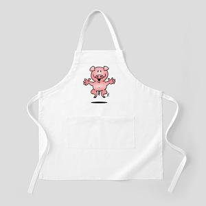Cheerful jumping pig Apron