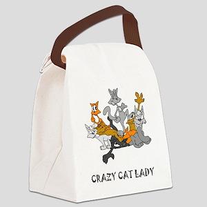 crazy-cat-lady Canvas Lunch Bag
