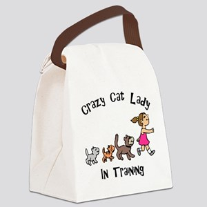 FIN-crazy-cat-lady-in-training Canvas Lunch Ba