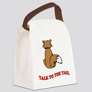 cat-talk-to-the-tail Canvas Lunch Bag