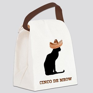 FIN-cinco-de-meow Canvas Lunch Bag