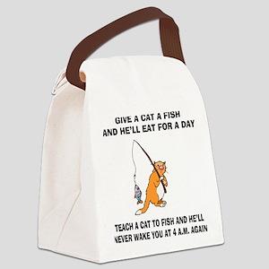 FIN-teach-cat-fish.... Canvas Lunch Bag
