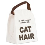 FIN-outfit-cat-hair... Canvas Lunch Bag