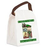 FIN-cats-house-home Canvas Lunch Bag
