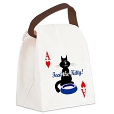 feed-the-kitty-poker Canvas Lunch Bag