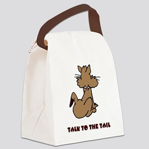 talk-to-the-tail Canvas Lunch Bag