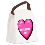 Abyssinian Cat Lover Canvas Lunch Bag