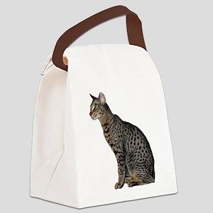 FIN-savannah-cat-CROP Canvas Lunch Bag