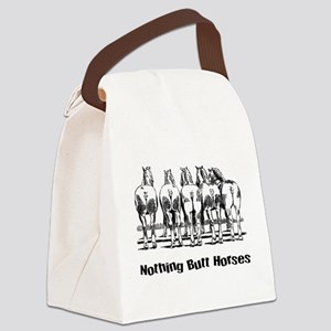 Nothing Butt Horses Canvas Lunch Bag