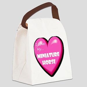 miniature-horse-FIN Canvas Lunch Bag