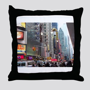 Busy New York Throw Pillow