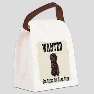Affenpinscher Wanted Poster Canvas Lunch Bag