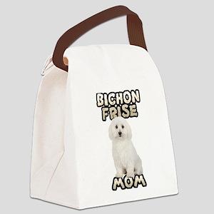 Bichon Frise Mom Canvas Lunch Bag
