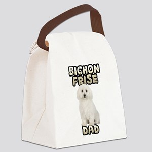 Bichon Frise Dad Canvas Lunch Bag