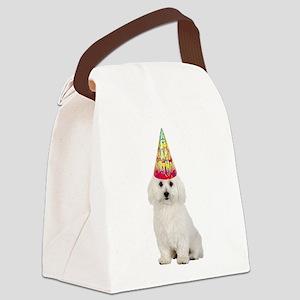 FIN-bichon-frise-birthday Canvas Lunch Bag