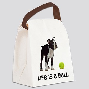Boston Terrier Life Canvas Lunch Bag